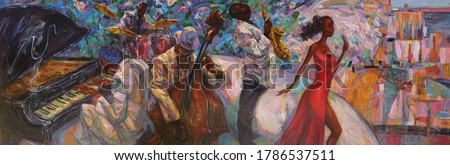 texture, oil painting,  art,  jazz, blues, traditional, classic, American,,