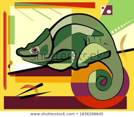Colorful background, expressionism  art style,abstract,chameleon reptile