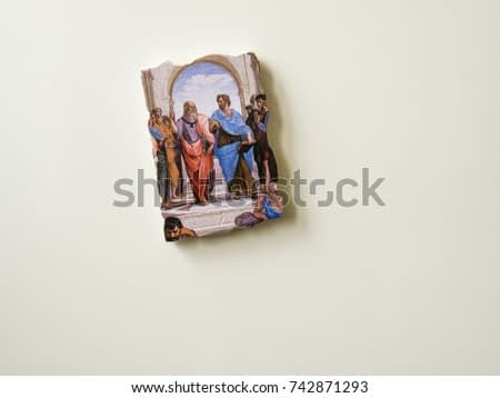 Refrigerator Vatican souvenir magnet with The School of Athens