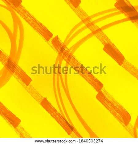 Hand Drawn Dirty Art. Summer Fire Color Watercolor Wallpaper. Yellow Carrot Stripes Dirty Art Painting. Mustard Amber Grunge Scribbles. Emotional Art. Sunny Copper Lines