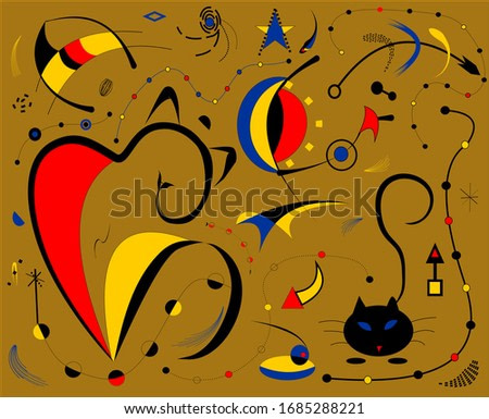 Abstract light brown background ,surrealism art style