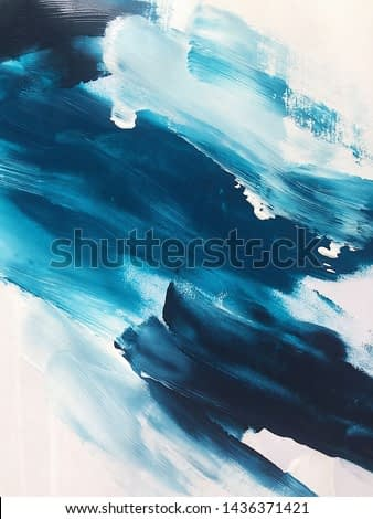 blue turquoise white oil abstraction on canvas. beautiful background. modern Art