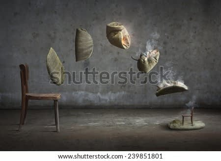 Surreal artistic image of a chair