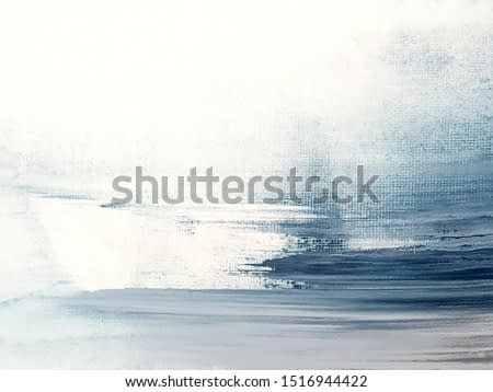 Blue and White Abstract Art Painting background. Painting Blue Sea.