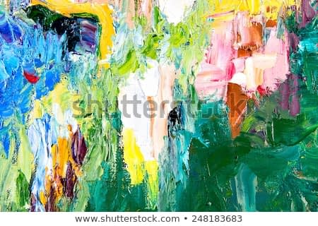 fragment of my painting. Oil on canvas. abstract painted background. focus on brushstrokes