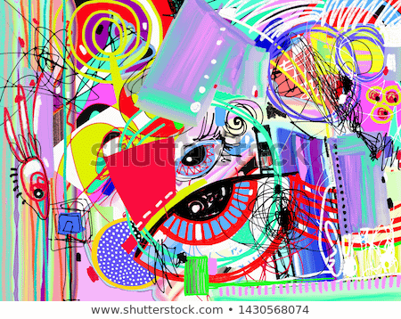 bright abstract digital painting background, contemporary art vector illustration