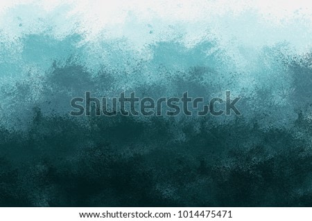 Abstract Teal Background that Resembles a Landscape with Gradient Colors from Light to Dark