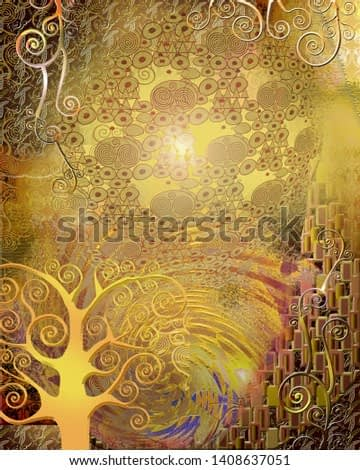 Background in the style of Klimt