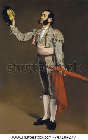 A Matador, by Edouard Manet, 1866-67, French impressionist painting, oil on canvas. This is a portrait of Cayetano Sanz y Pozas, a famous Spanish bullfighter