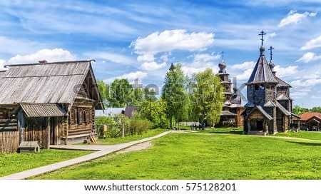 museum of wooden architecture in Suzdal, Russia