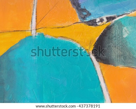 Textured abstract painting. Hand painted background with space for text