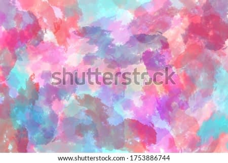 Pastel colour painting background. Abstract multicolor visual art. Colorful graphic image background for presentation. Visual arts with pastel color style.