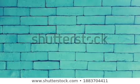 Green brick wall for background. Pastel painting of brickwork wallpaper.