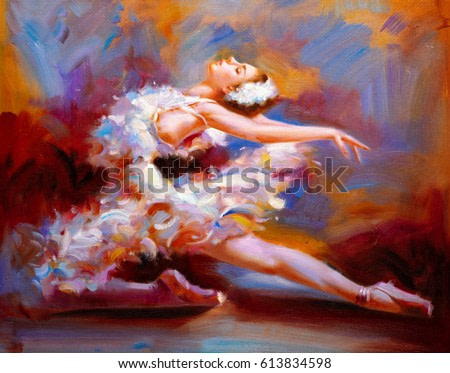 Oil Painting - Ballet Dancer