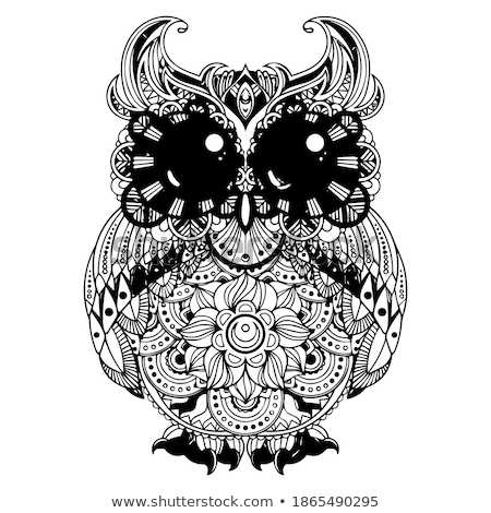 A beautiful coloring book pages for kids. Owl vector for children.