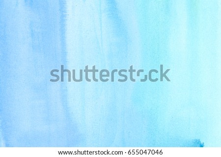Bluel abstract watercolor art hand paint on white background
