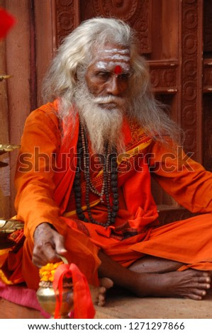 Indian Old Man in Getup 24th Dec 2018 Hyderabad India