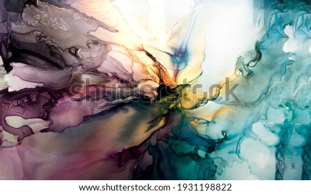Ink, paint, abstract. Closeup of the painting. Colorful abstract painting background. Highly-textured oil paint. High quality details.