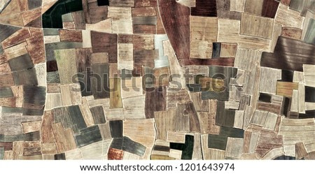 Fields in the afternoon, abstract photography of the deserts of Africa from the air. aerial view of desert landscapes, Genre: Abstract Naturalism, from the abstract to the figurative,