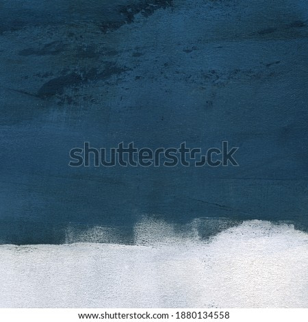 Hand painted minimalist landscape for creative design of posters, cards, packaging, banners, websites, wallpapers, magazines, branding, advertising and other projects. Modern art.