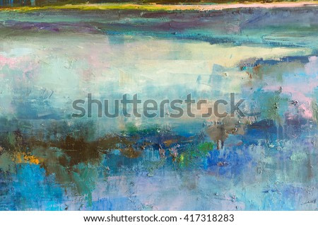 Abstract oil  painting background. Oil on canvas texture.Hand drawn oil painting.Color texture. Fragment of artwork. Brushstrokes of paint. Modern art. Contemporary art. Colorful canvas.
