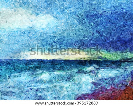 storm coming over painting, storm over the sea impressionism painting, seascape painting, oil and watercolor mixed painting landscape view, ocean weather painting, storm on the beach painting