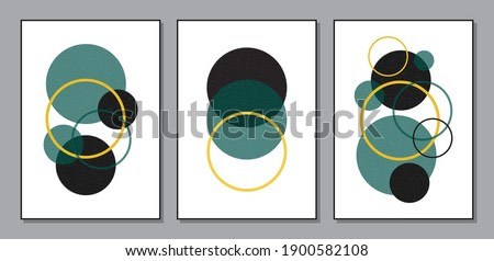 Trendy set of abstract creative minimalist artistic geometric compositions ideal for art gallery, wall decoration, interior design, vector illustration