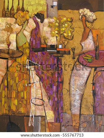 oil painting, author Roman Nogin. woman figure abstract.looking for partnerships with artdillers - contact facebook