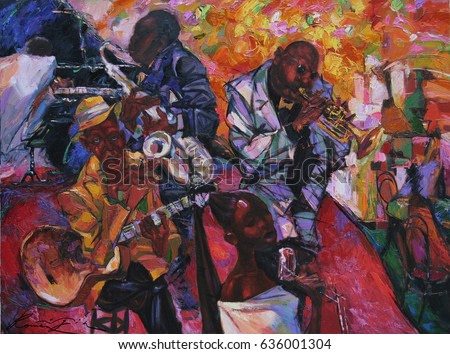 artist Roman Nogin.looking for partnerships with artdillers - contact facebook, jazz band, orchestra, musical instruments,