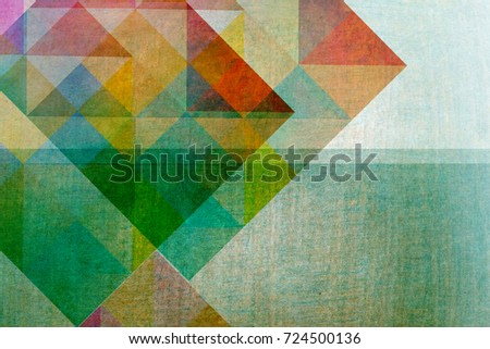 circus motif design - graphic shapes on textured background
