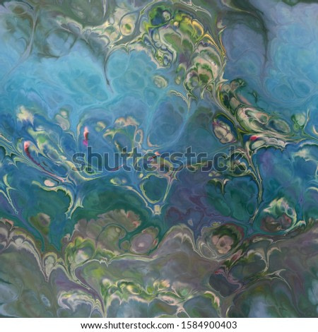 abstract Monet colors waterlily style flowing watercolor seamless tile