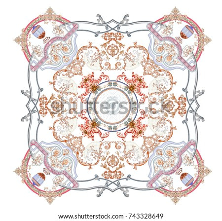 Flower deformation, the leaves and flowers art design