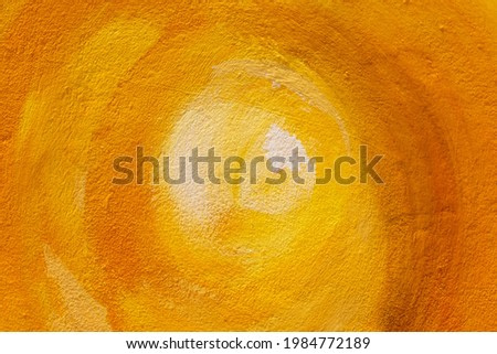 Close up to Outdoor painting wall.Oil color painted background on yellow black and white.. Vector illustration. Abstract backdrop.