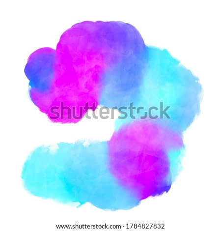 Watercolors brush strokes, paper texture, white background, bright color pigment, abstract design art