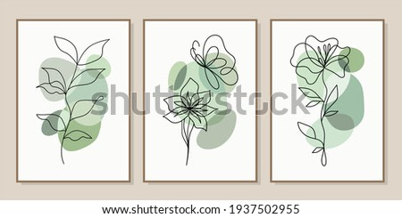 Minimal and abstract continuous line drawing of vector image. Vector EPS10.