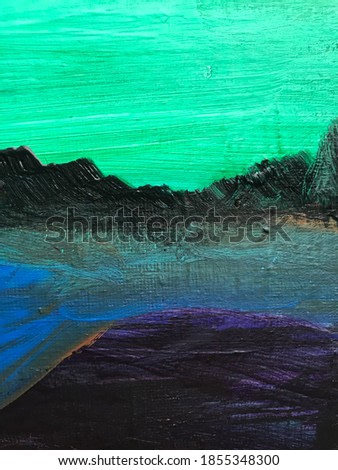Abstract landscape acrylic painting art