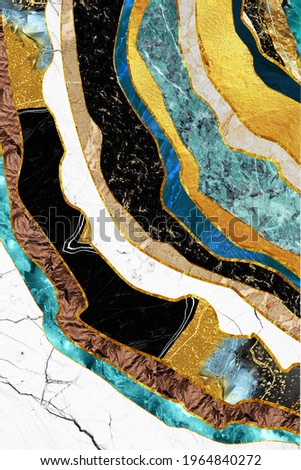 3d mural wallpaper for wall frame . resin geode and abstract art, functional art, like watercolor geode painting . golden and gray marble background