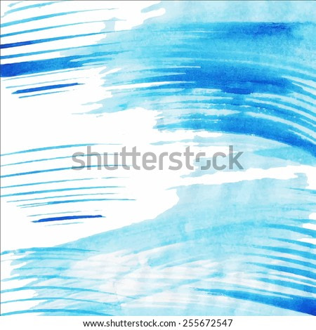 Vector abstract hand drawn watercolor background. Hand painting backdrop.
