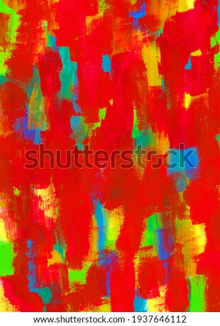 Colorful art brush texture based on red