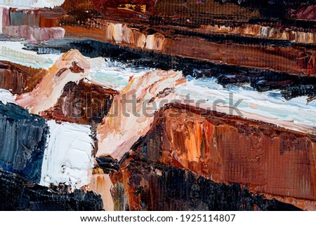 Beautiful girl plays the piano. Created in detail and color, oil painting on canvas.