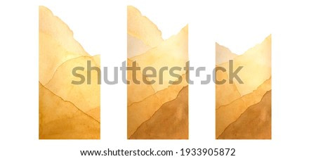 Abstract watercolor background. Mountains sand dunes. For background, poster, business card, invitation.