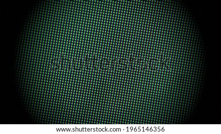 Close up of an LCD screen with a heavy vignette