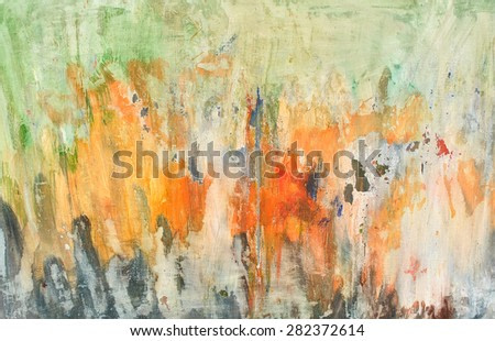 Abstract fresco. Contemporary painting. Oil on canvas