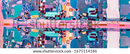 oil painting fragment, abstract illustration