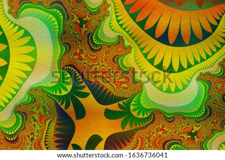 Abstract background- decoration ornament.  Esoteric- concept 3D illustration. Artwork painting - art futuristic wallpaper