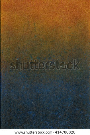 Abstract painting on canvas with color gradient from blue to red. Abstract hand painted textured background with color blocks.