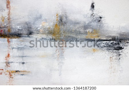 abstract gray acrylic painting on canvas
