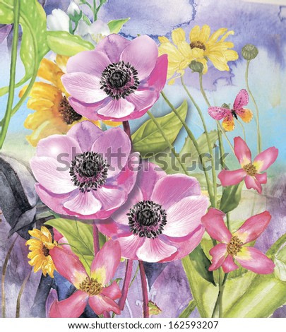 drawing beautiful flower's
