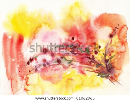 Watercolor background -Summer-