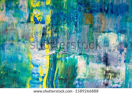 Painting Artistic bright color oil paints texture abstract artwork. Modern futuristic pattern for grunge wallpaper, interior, album, flyer cover, poster, booklet background. Creative graphic design